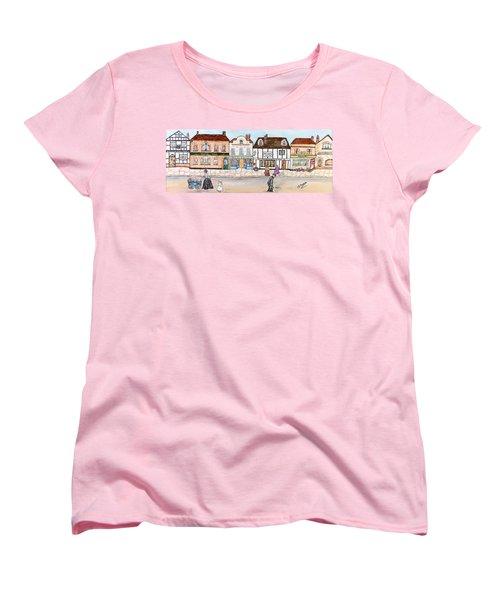 Women's T-Shirt (Standard Cut) featuring the painting Villaggio Antico by Loredana Messina