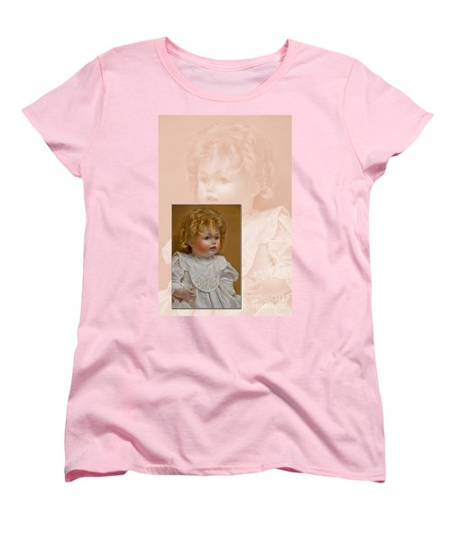 Vintage Doll Beauty Art Prints Women's T-Shirt (Standard Cut) by Valerie Garner