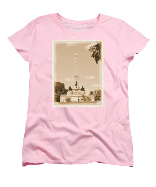 Vintage Lincoln's Tomb Women's T-Shirt (Standard Cut) by Luther Fine Art