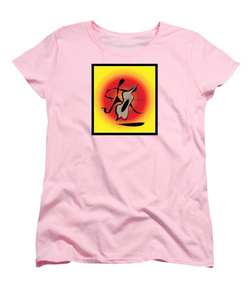 Women's T-Shirt (Standard Cut) featuring the digital art Viola by Iris Gelbart