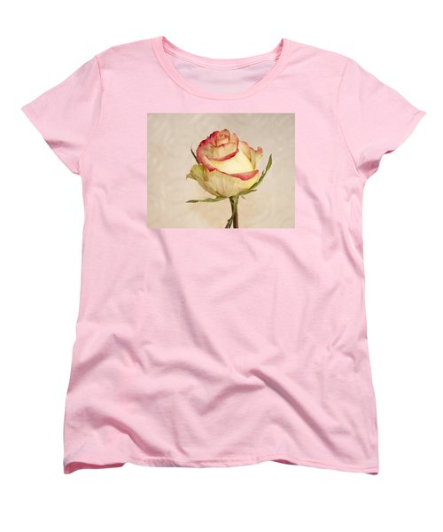 Women's T-Shirt (Standard Cut) featuring the photograph Waiting For The Unfurling by Sandra Foster