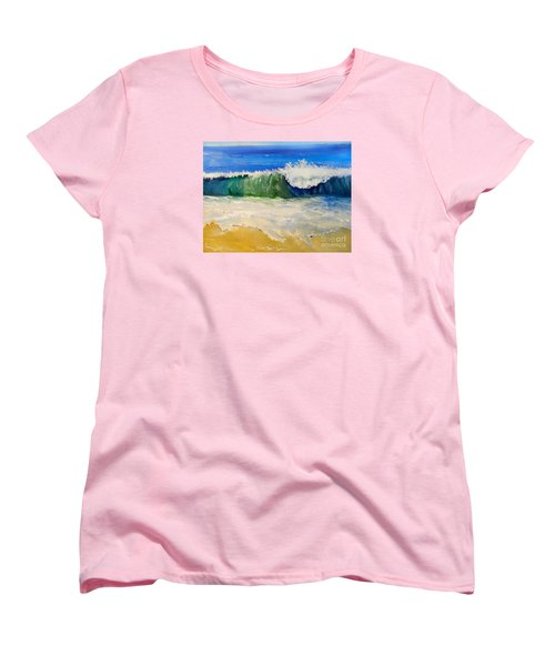 Watching The Wave As Come On The Beach Women's T-Shirt (Standard Cut)