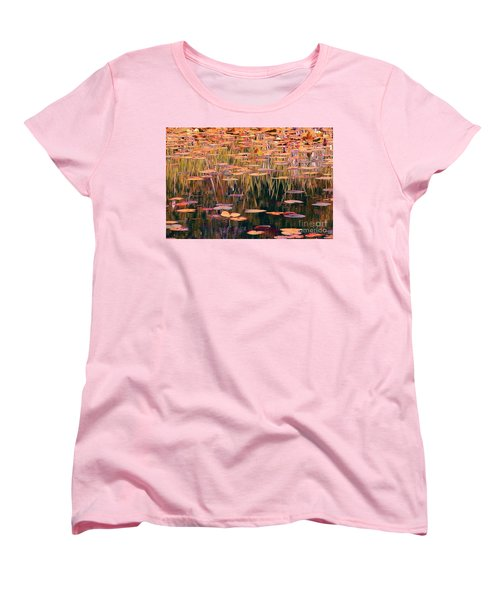 Water Lilies Re Do Women's T-Shirt (Standard Cut) by Chris Anderson