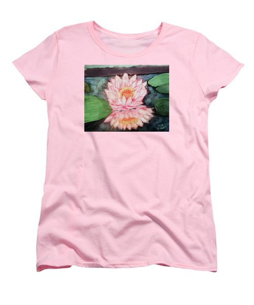 Water Lily Women's T-Shirt (Standard Cut) by Renee Michelle Wenker