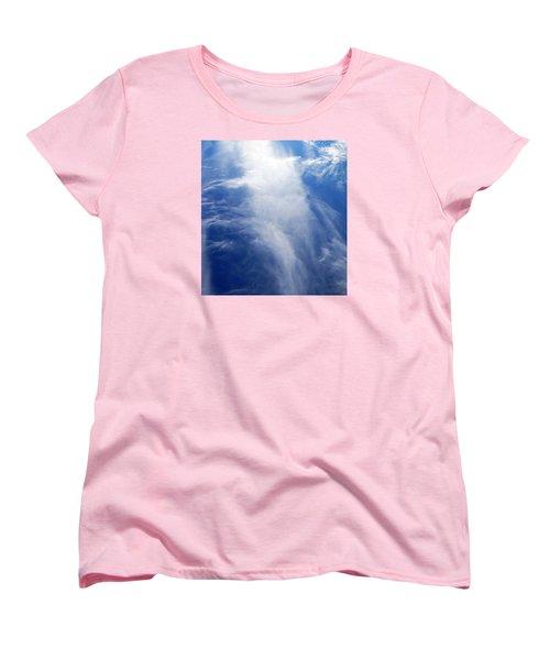 Waterfall In The Sky Women's T-Shirt (Standard Cut) by Belinda Lee