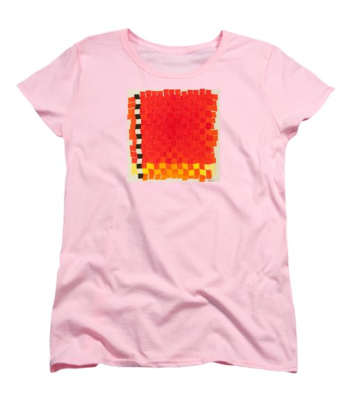 Weave #2 Sunset Weave Women's T-Shirt (Standard Cut) by Thomas Gronowski