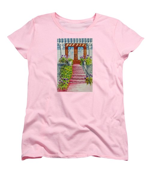 Women's T-Shirt (Standard Cut) featuring the painting Welcome by Katherine Young-Beck