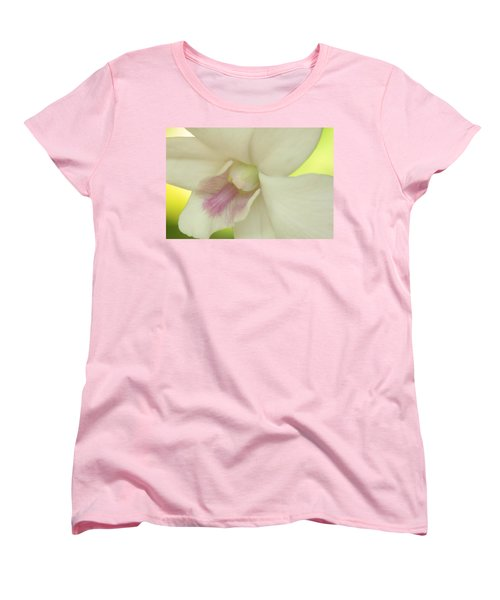 White Orchid Women's T-Shirt (Standard Cut) by Greg Allore