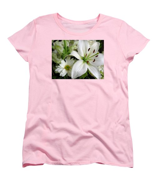 Women's T-Shirt (Standard Cut) featuring the photograph White Wonder by Rory Sagner
