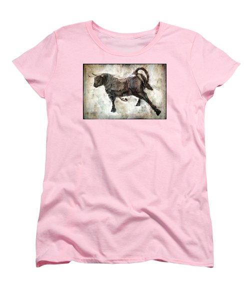 Wild Raging Bull Women's T-Shirt (Standard Cut) by Daniel Hagerman
