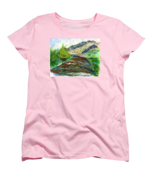 Willow Creek In Spring Women's T-Shirt (Standard Cut) by C Sitton