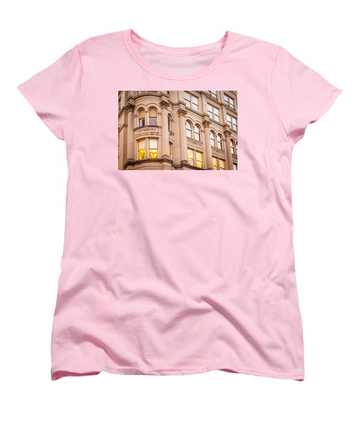 Window To My Heart Women's T-Shirt (Standard Cut) by Melinda Ledsome