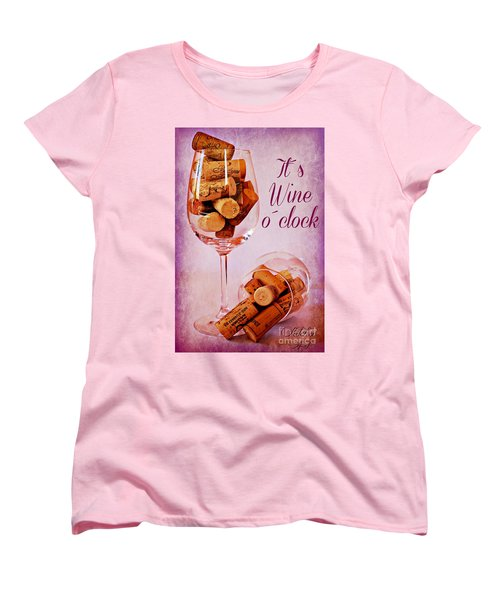 Wine Time Women's T-Shirt (Standard Cut) by Clare Bevan