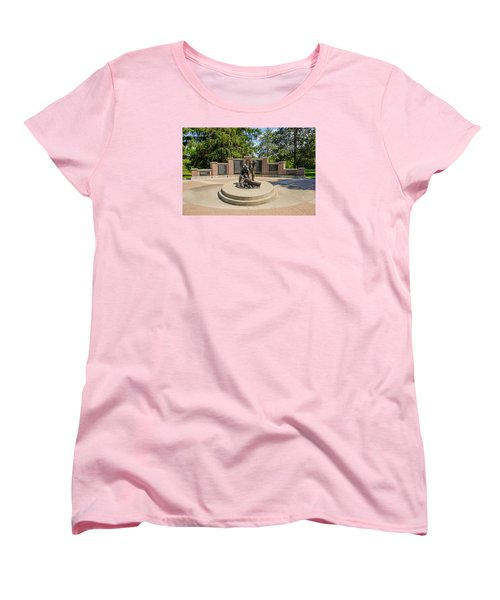 Women's T-Shirt (Standard Cut) featuring the photograph Wisconsin State Firefighters Memorial 1 by Susan  McMenamin
