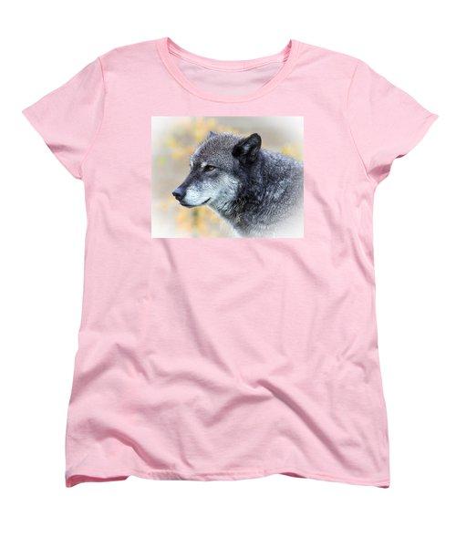 Wolf Women's T-Shirt (Standard Cut) by Steve McKinzie