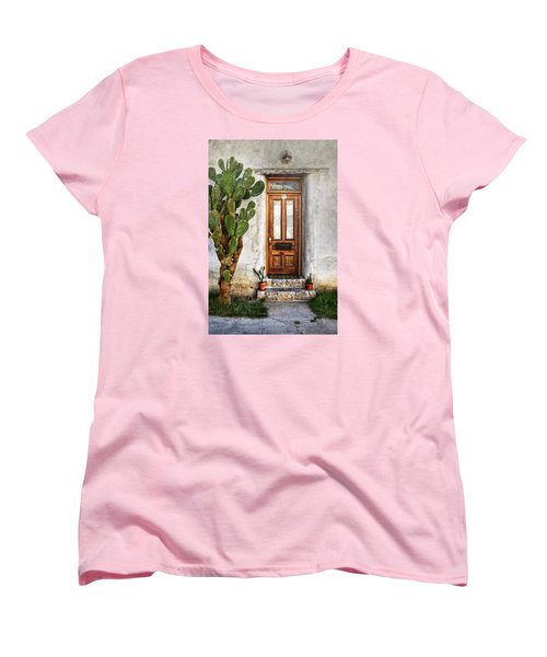 Women's T-Shirt (Standard Cut) featuring the photograph Wood Door In Tuscon by Ken Smith