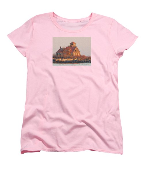 Wood Island Women's T-Shirt (Standard Cut) by Marcia Lee Jones