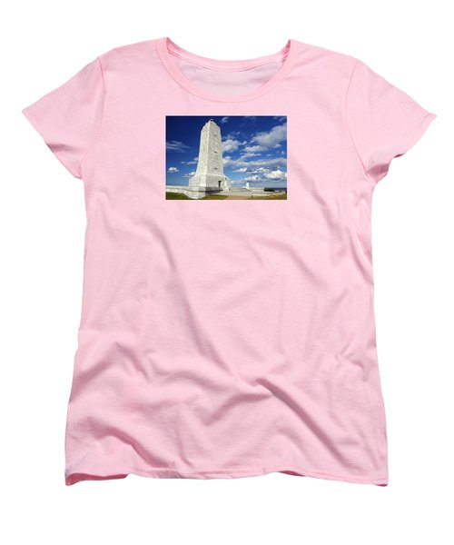 Wright Brothers Memorial D Women's T-Shirt (Standard Cut) by Greg Reed