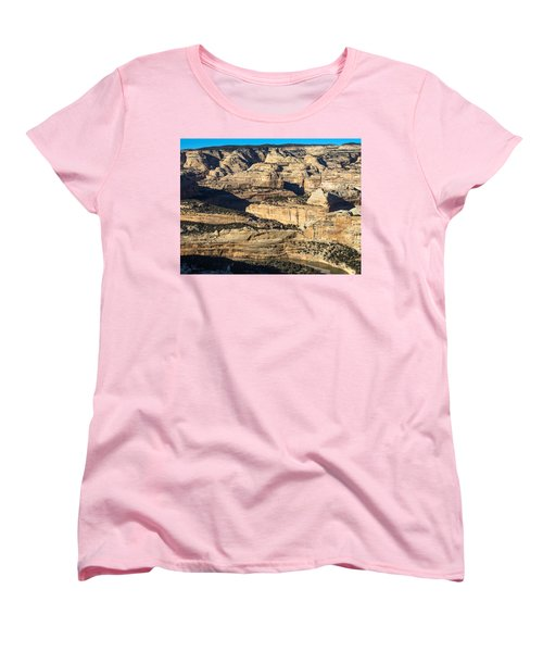 Yampa River Canyon In Dinosaur National Monument Women's T-Shirt (Standard Cut) by Nadja Rider