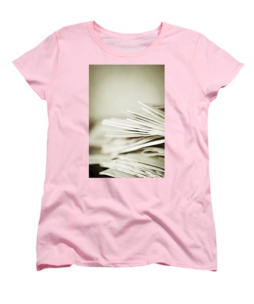Women's T-Shirt (Standard Cut) featuring the photograph Yesterday's News by Trish Mistric