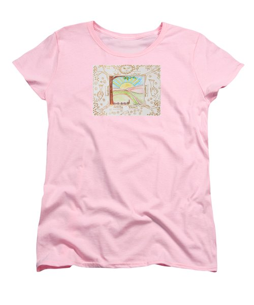 Women's T-Shirt (Standard Cut) featuring the painting You Are My Sunshine by Cassie Sears