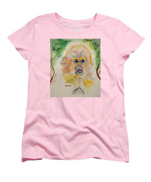 You Silly Monkey Women's T-Shirt (Standard Cut) by Maria Urso