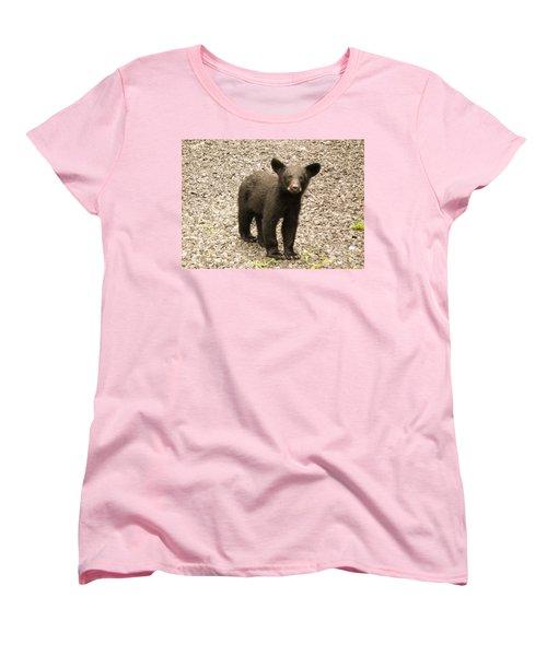 Women's T-Shirt (Standard Cut) featuring the photograph Young Cub by Jan Dappen