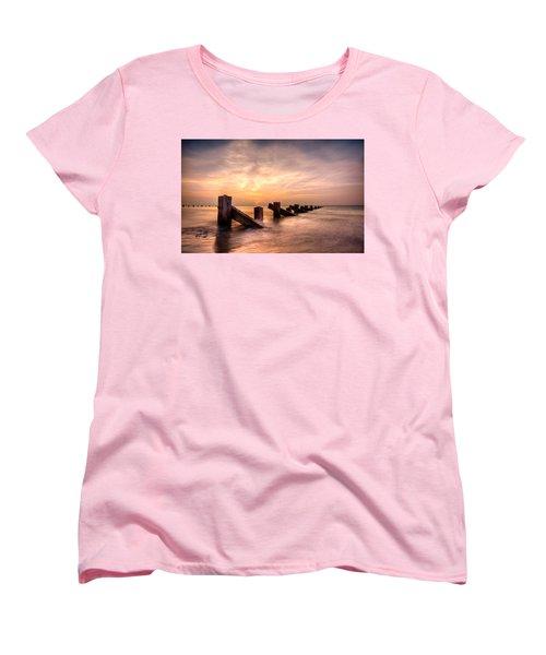 Women's T-Shirt (Standard Cut) featuring the photograph  Abermaw Sunset by Beverly Cash