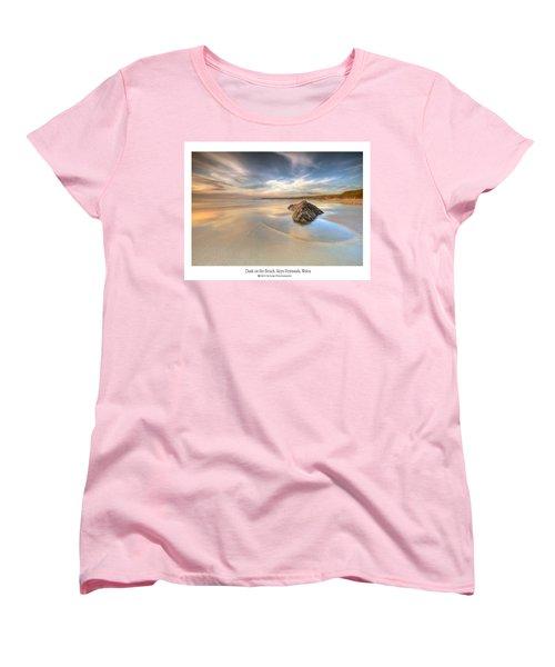 Dusk On The Beach Women's T-Shirt (Standard Cut) by Beverly Cash