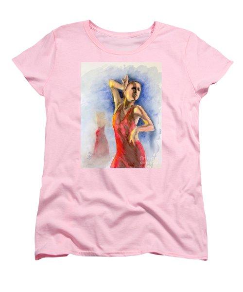A Flamenco Dancer  2 Women's T-Shirt (Standard Cut) by Yoshiko Mishina
