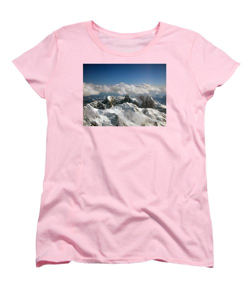 Women's T-Shirt (Standard Cut) featuring the photograph Above Mckinley by Kay Lovingood