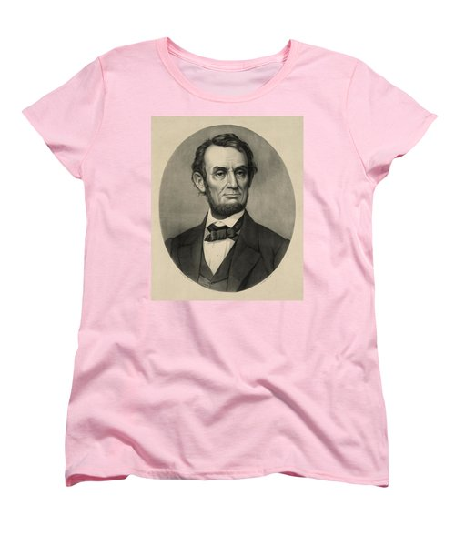 Women's T-Shirt (Standard Cut) featuring the photograph Abraham Lincoln Portrait by International  Images
