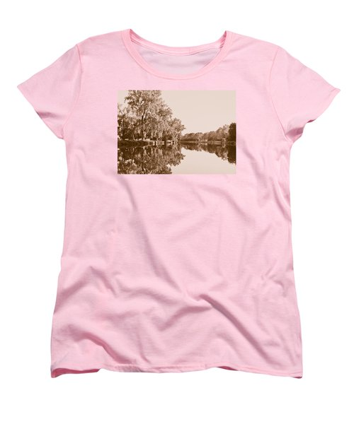Women's T-Shirt (Standard Cut) featuring the photograph Amber Reflection by Sara Frank