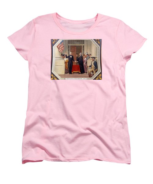 Women's T-Shirt (Standard Cut) featuring the photograph Andrew Jackson At The First Capitol Inauguration - C 1829 by International  Images
