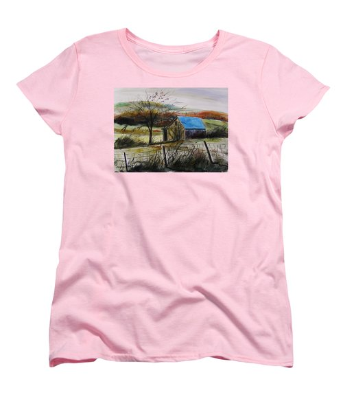 Women's T-Shirt (Standard Cut) featuring the painting Autumn Light By John Williams by John Williams