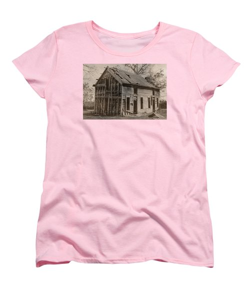 Battered And Leaning Women's T-Shirt (Standard Cut) by Betty Northcutt