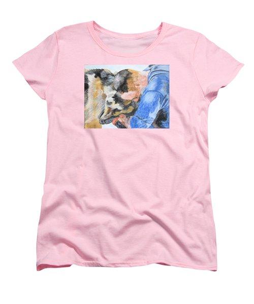 Best Friends - Oil Pastels Study Women's T-Shirt (Standard Cut) by Maris Sherwood