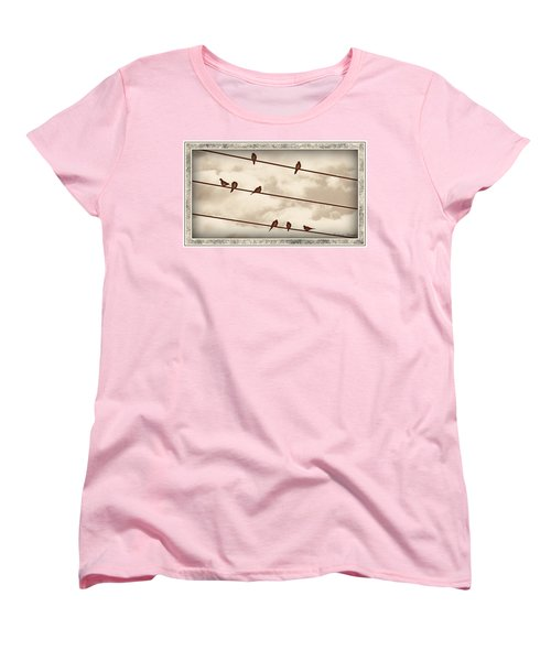 Birds On Wires Women's T-Shirt (Standard Cut)