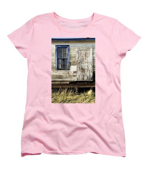Women's T-Shirt (Standard Cut) featuring the photograph Broken Window by Fran Riley