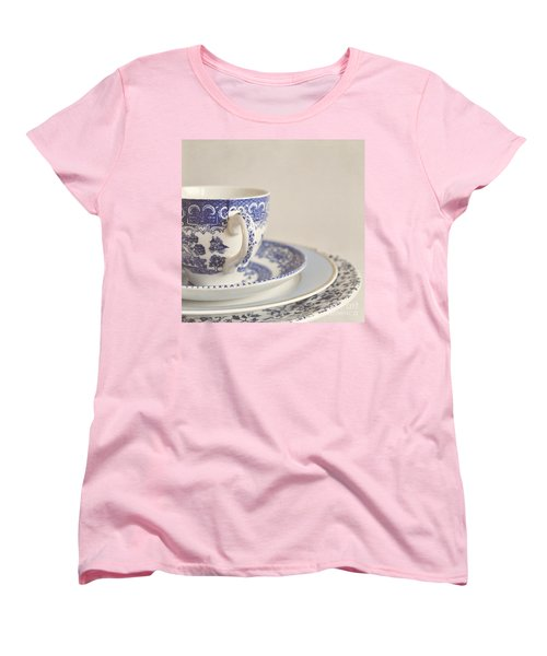 China Cup And Plates Women's T-Shirt (Standard Cut) by Lyn Randle