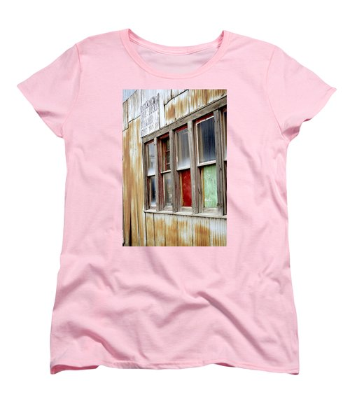 Women's T-Shirt (Standard Cut) featuring the photograph Colorful Windows by Fran Riley