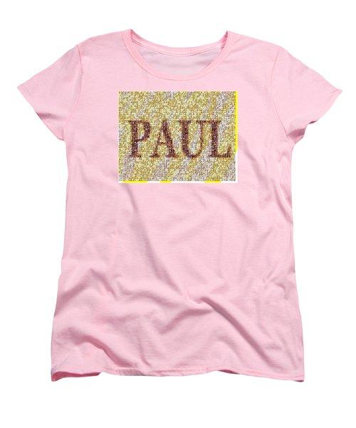Custom Paul Mosaic Taylor Swift Women's T-Shirt (Standard Cut) by Paul Van Scott