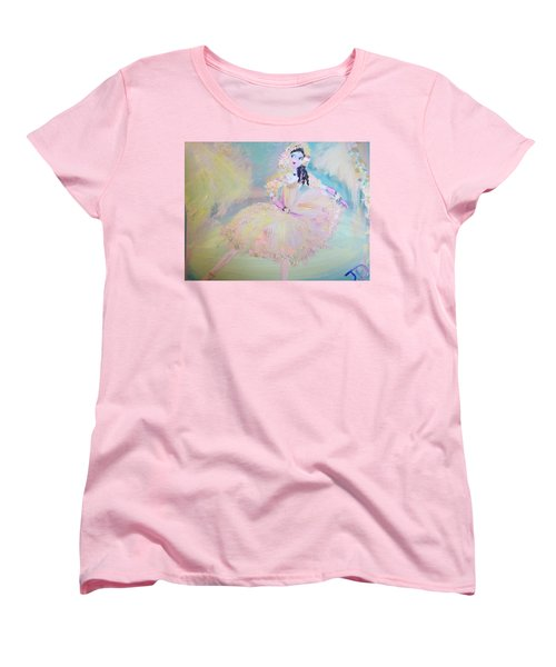 Women's T-Shirt (Standard Cut) featuring the painting Dorothy Dancer by Judith Desrosiers
