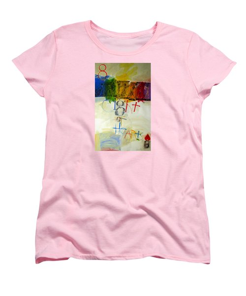 Women's T-Shirt (Standard Cut) featuring the painting Eight Of Hearts 34-52 by Cliff Spohn