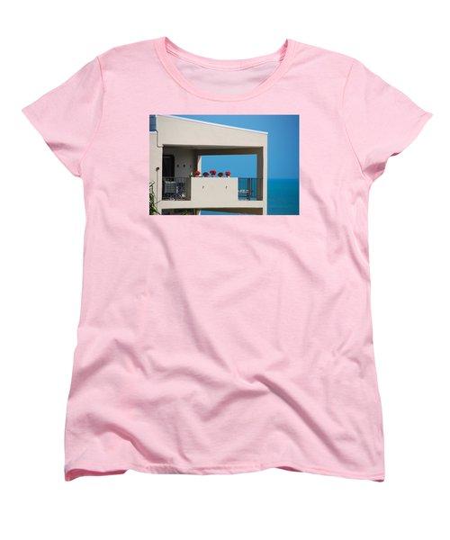 Women's T-Shirt (Standard Cut) featuring the photograph Flower Pots Five by John Schneider