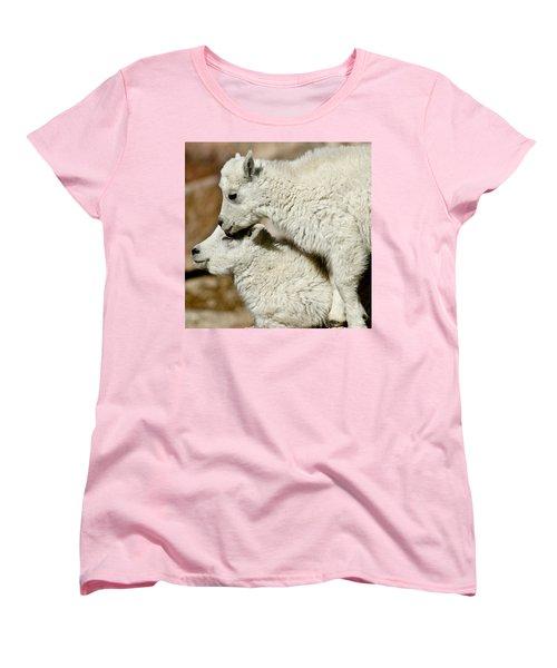 Goat Babies Women's T-Shirt (Standard Cut) by Colleen Coccia