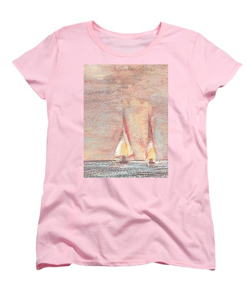 Golden Sails Women's T-Shirt (Standard Cut) by Richard James Digance