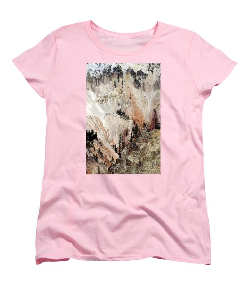 Grand Canyon Of Yellowstone Vertical Women's T-Shirt (Standard Cut) by Living Color Photography Lorraine Lynch