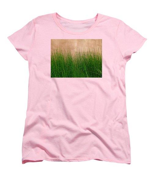 Women's T-Shirt (Standard Cut) featuring the photograph Grass And Stucco by David Pantuso