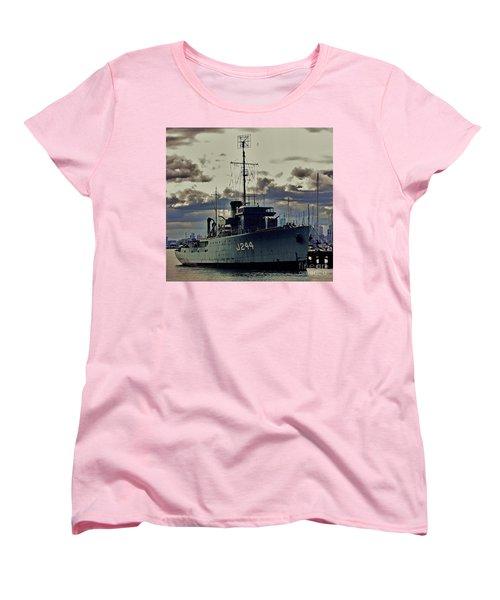 Women's T-Shirt (Standard Cut) featuring the photograph Hmas Castlemaine 1 by Blair Stuart
